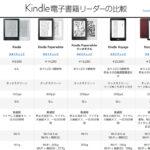 Kindle電子書籍リーダーの比較